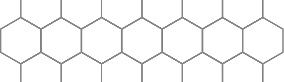 A pattern of hexagons, which are special shapes which have duals.